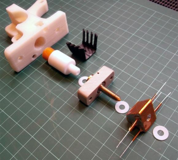 Hotend com dois resistores