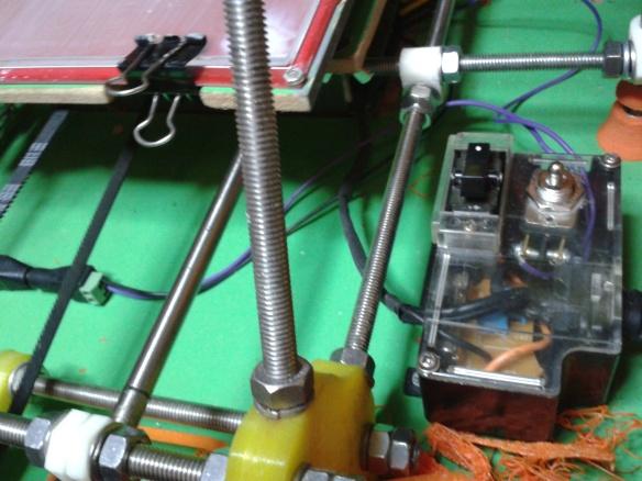 Chave geral de 12V para a impressora e ventoinhas